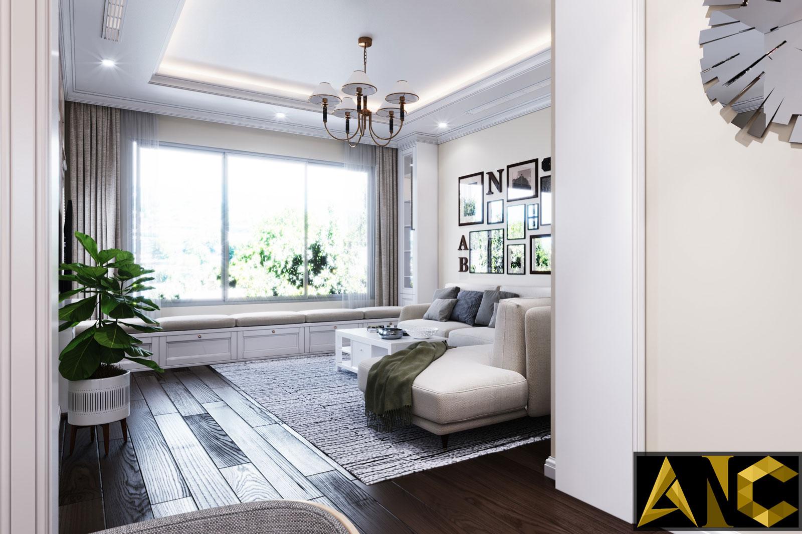 Thiết kế nội thất Nine South: Tầng Trệt Phòng Khách View 3 - Nhà Anh Mạnh