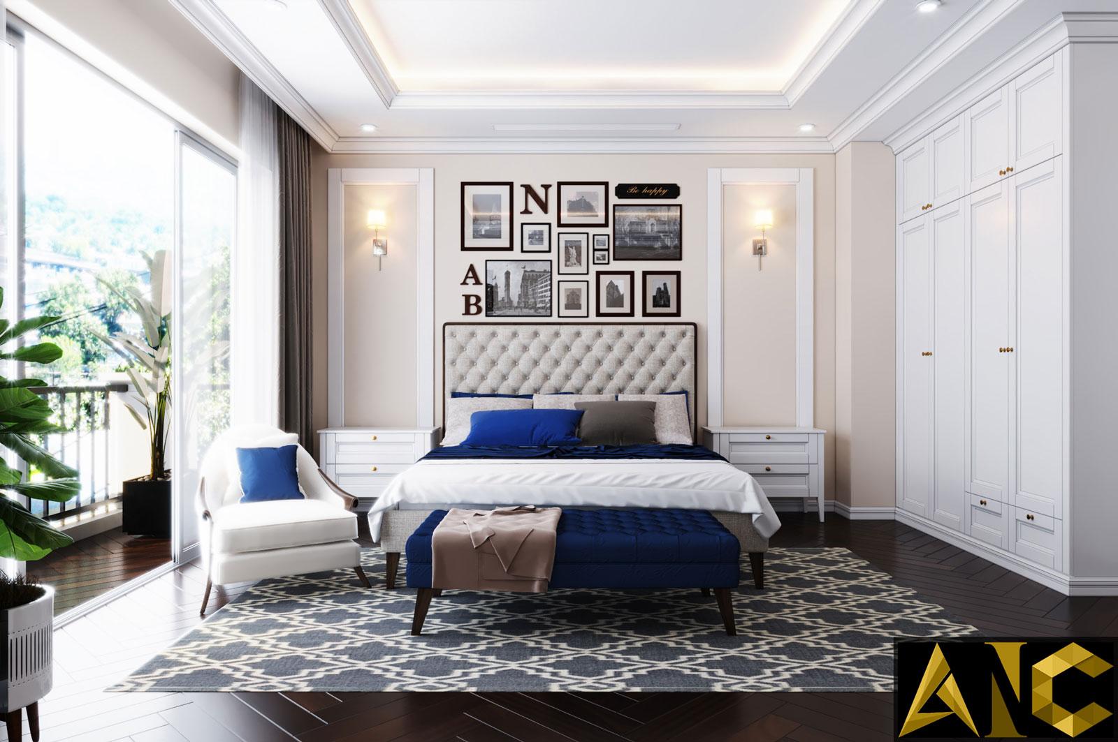 Thiết kế nội thất Nine South: Phòng Ngủ Master View 1 - Nhà Anh Mạnh