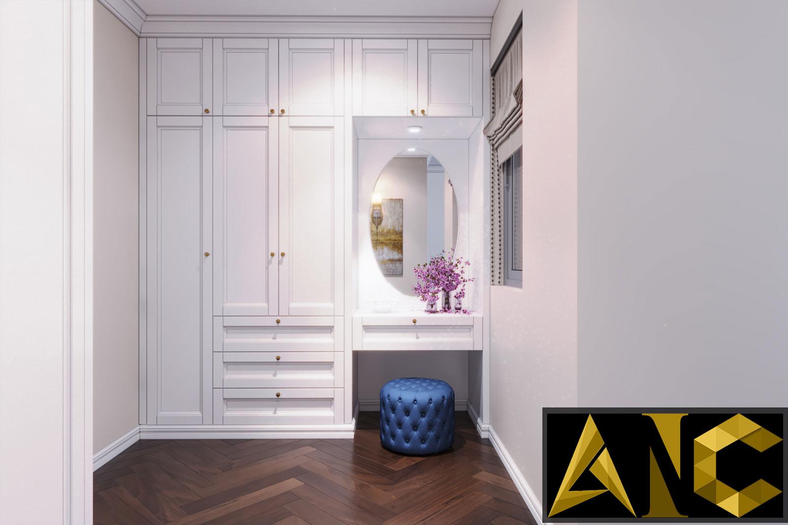 Thiết kế nội thất Nine South: Phòng Ngủ Master View 3 - Nhà Anh Mạnh