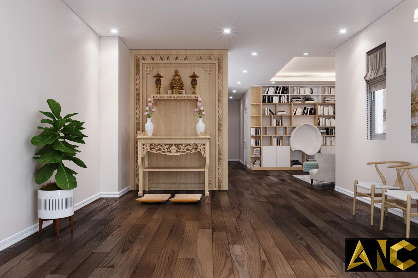 Thiết kế nội thất Nine South: Phòng Thờ - Nhà Anh Mạnh