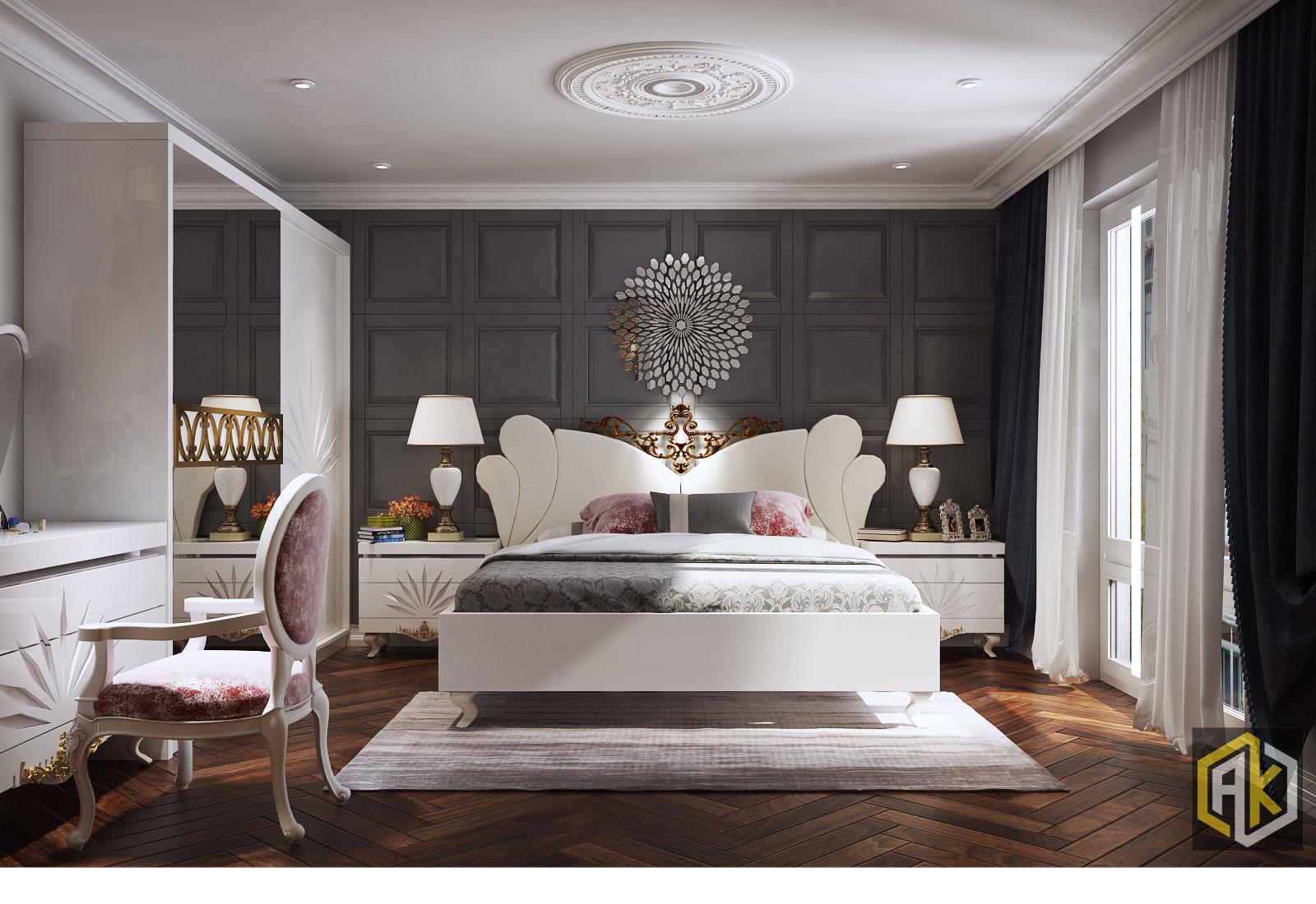 Bố trí phòng nội thất phòng ngủ hợp phong thủy