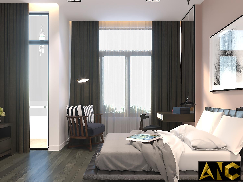 Thiết kế thi công nội thất nhà phố Thủ Đức - Phòng ngủ 1 view 2