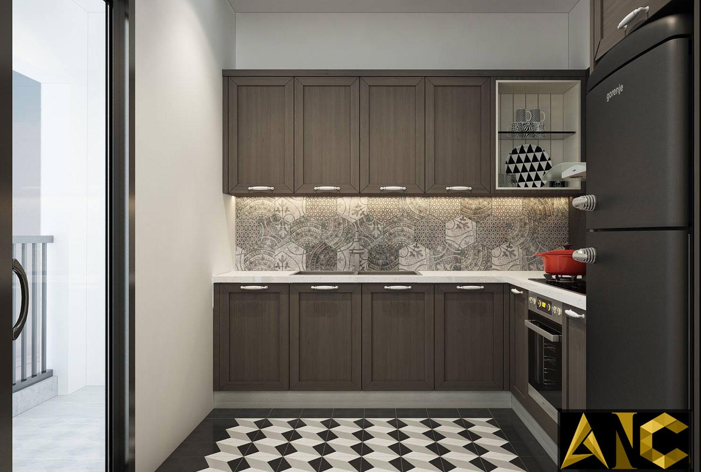 Thiết kế nội thất căn hộ Scenic Valley - Phòng bếp view 2