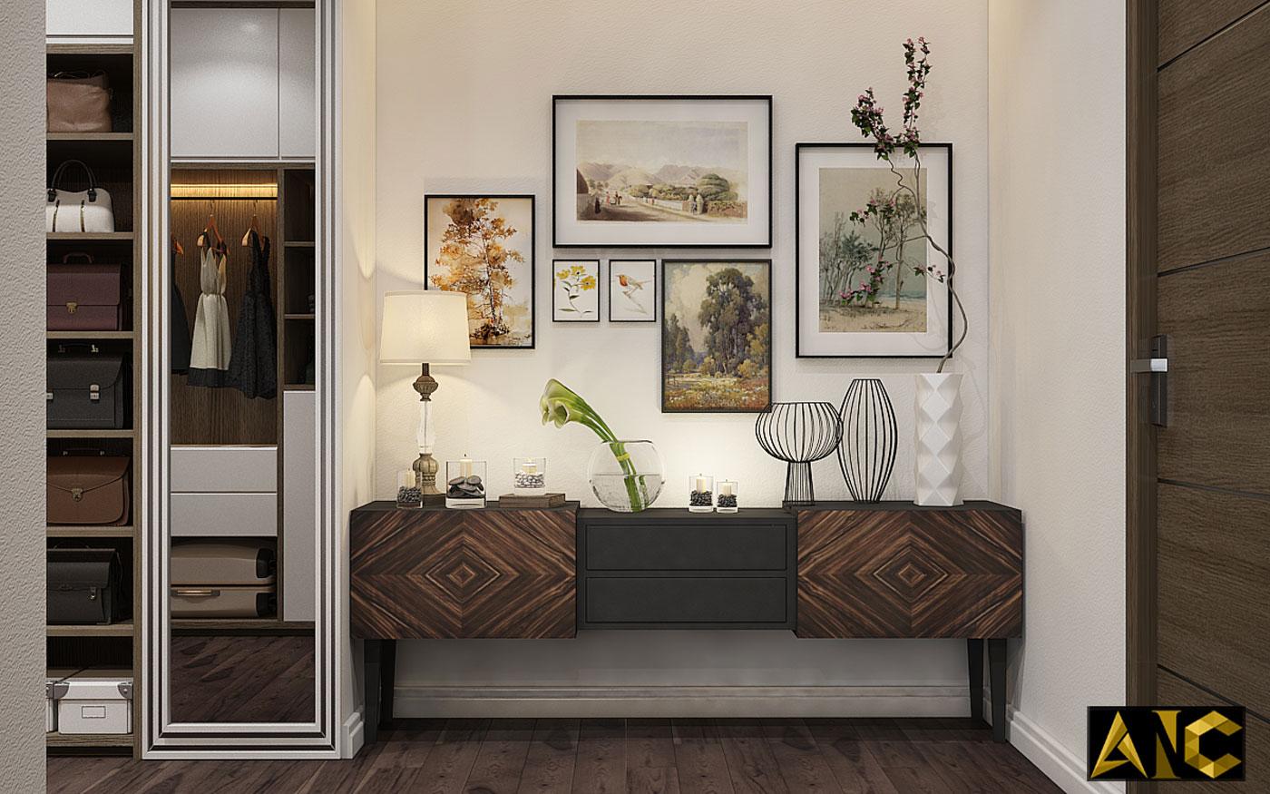 Thiết kế thi công nội thất: Penhouse City Plaza phòng ngủ master view 3