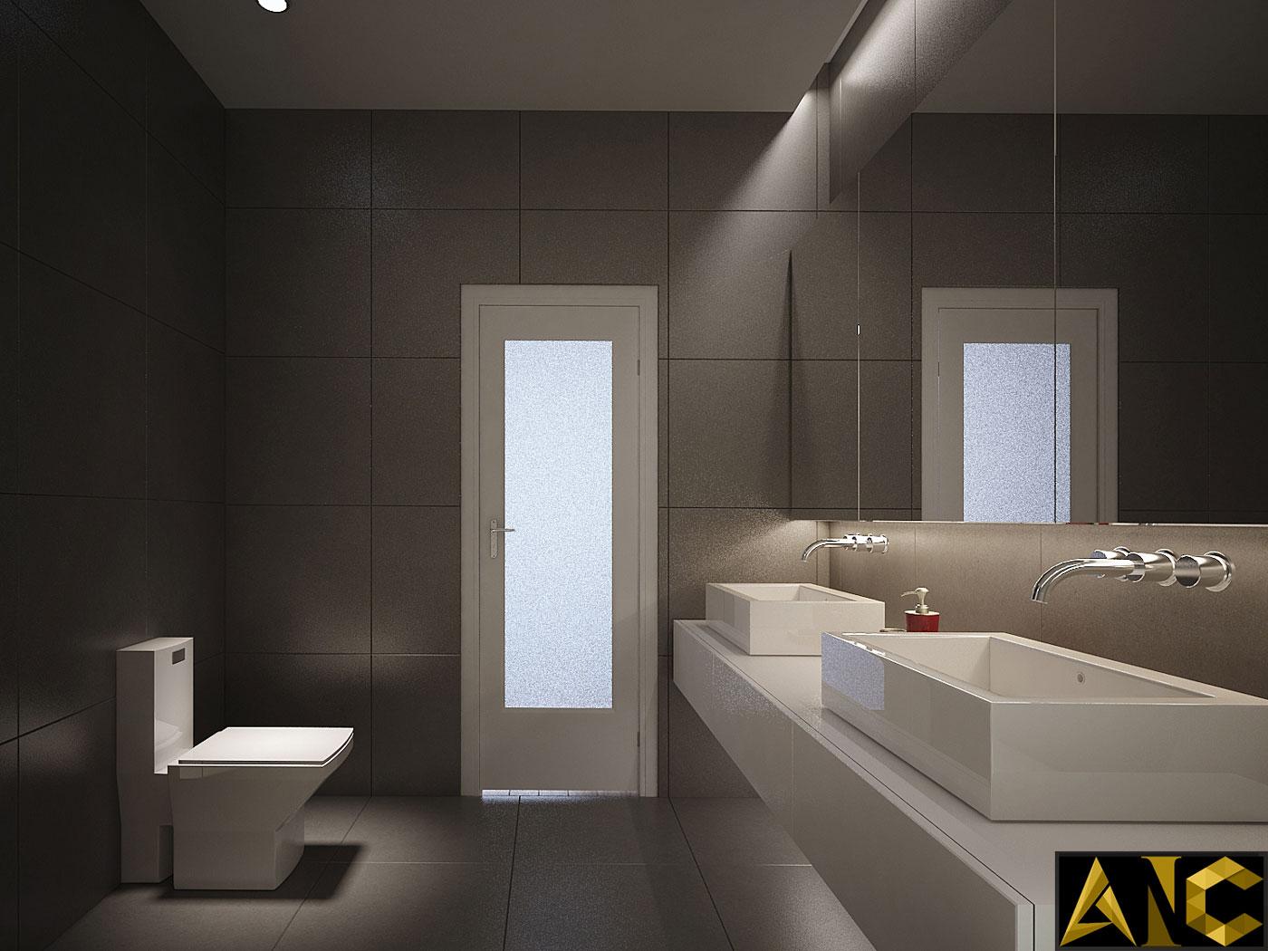 Thiết kế thi công nội thất: căn hộ Royal City phòng vệ sinh view 2