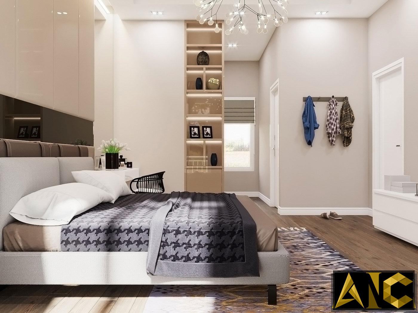Thiết kế thi công nội thất: Căn hộ Park River Side phòng ngủ master view 2