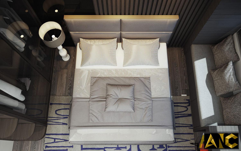 Thiết kế nội thất căn hộ Scenic Valley - Phòng ngủ master view 2