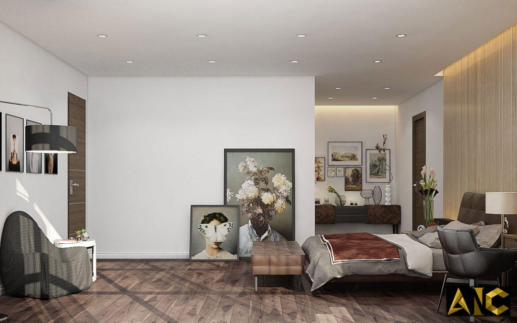 Thiết kế thi công nội thất: Penhouse City Plaza phòng ngủ master view 5