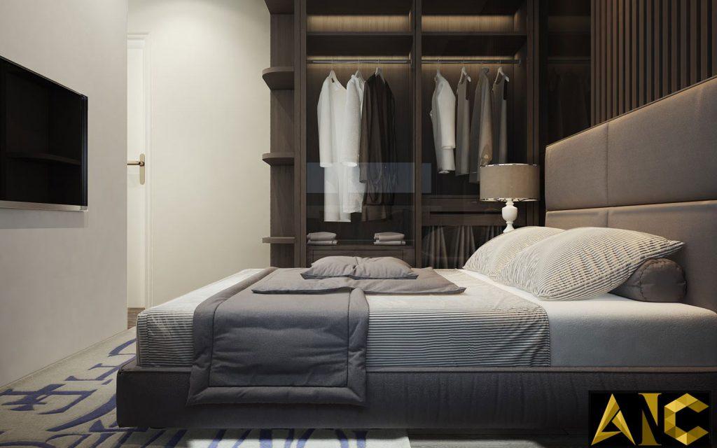 Thiết kế thi công nội thất căn hộ Scenic Valley phòng ngủ master view 3
