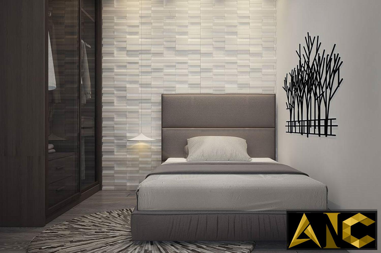 Thiết kế nội thất căn hộ Scenic Valley - Phòng ngủ nhỏ view 1