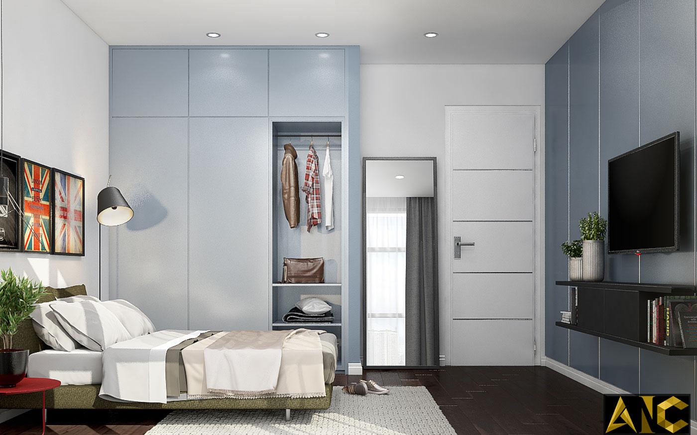 Thiết kế thi công nội thất: Penhouse City Plaza phòng ngủ nhỏ view 1