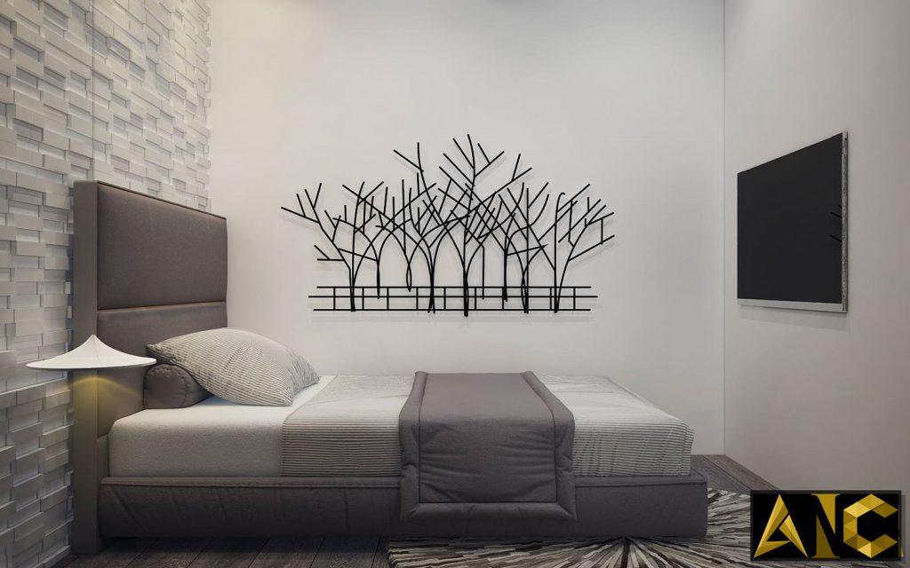 Thiết kế thi công nội thất căn hộ Scenic Valley phòng ngủ nhỏ view 1