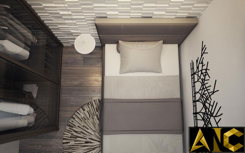 Thiết kế nội thất căn hộ Scenic Valley - Phòng ngủ nhỏ view 3