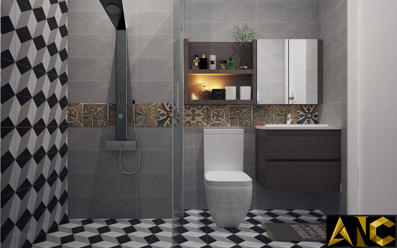 Thiết kế nội thất căn hộ Scenic Valley - Phòng vệ sinh 1 view 1