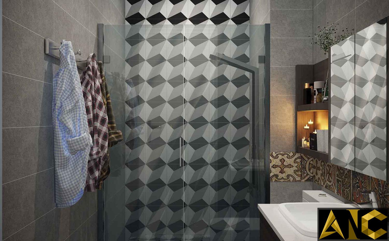 Thiết kế nội thất căn hộ Scenic Valley - Phòng vệ sinh 1 view 2