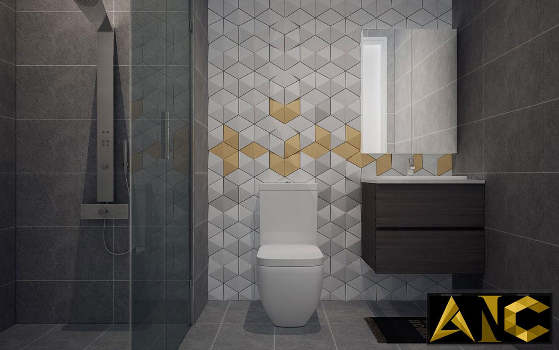 Thiết kế nội thất căn hộ Scenic Valley - Phòng vệ sinh 2 view 1