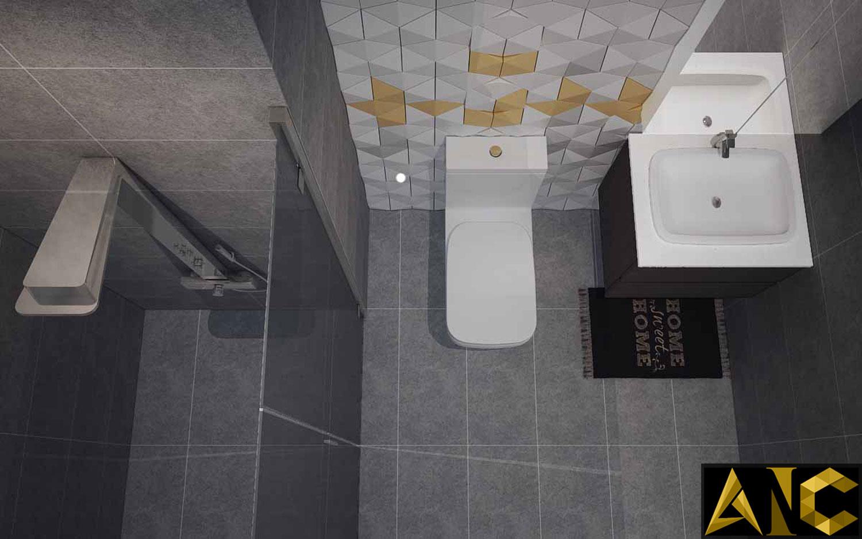 Thiết kế nội thất căn hộ Scenic Valley - Phòng vệ sinh 2 view 2
