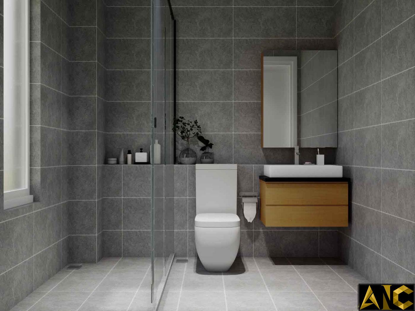 Thiết kế thi công nội thất: Căn hộ Park River Side phòng vệ sinh view 1