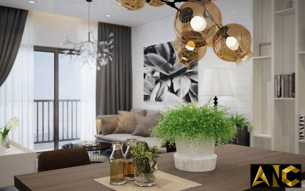 Thiết kế thi công nội thất căn hộ Scenic Valley phòng bếp view 5