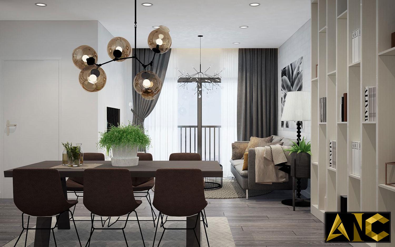 Thiết kế thi công nội thất căn hộ Scenic Valley phòng bếp view 2