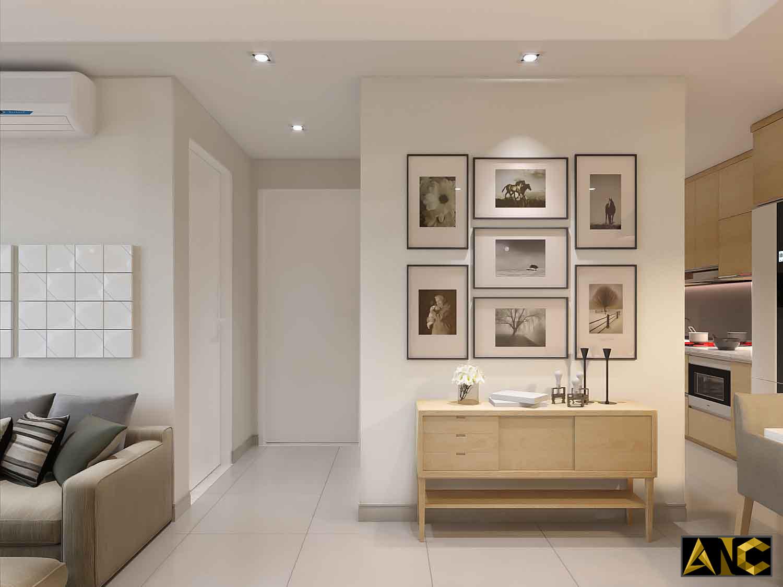 Thiết kế thi công nội thất: Căn hộ Masteri - phòng khách đẹp view 3