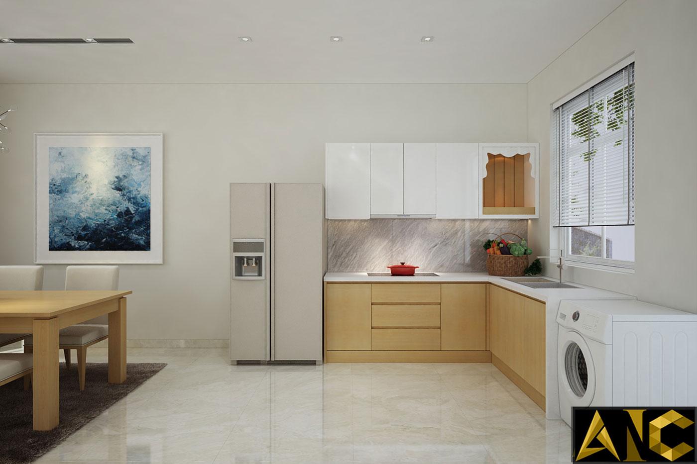 Thiết kế thi công nội thất: Căn hộ Park River Side phòng bếp view 1