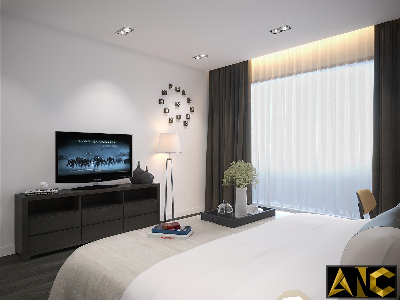 Thiết kế thi công nội thất nhà phố Thủ Đức - Phòng ngủ master view 2
