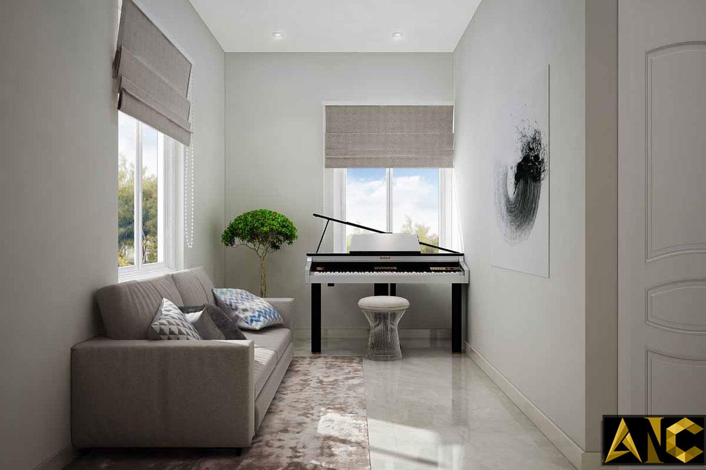 Thiết kế thi công nội thất: Căn hộ Park River Side phòng sinh hoạt chung view 1