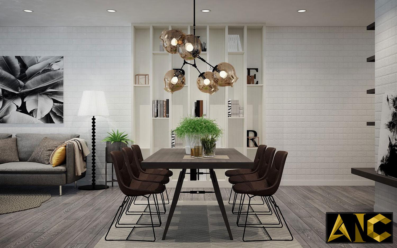 Thiết kế nội thất căn hộ Scenic Valley - Phòng ăn view 2