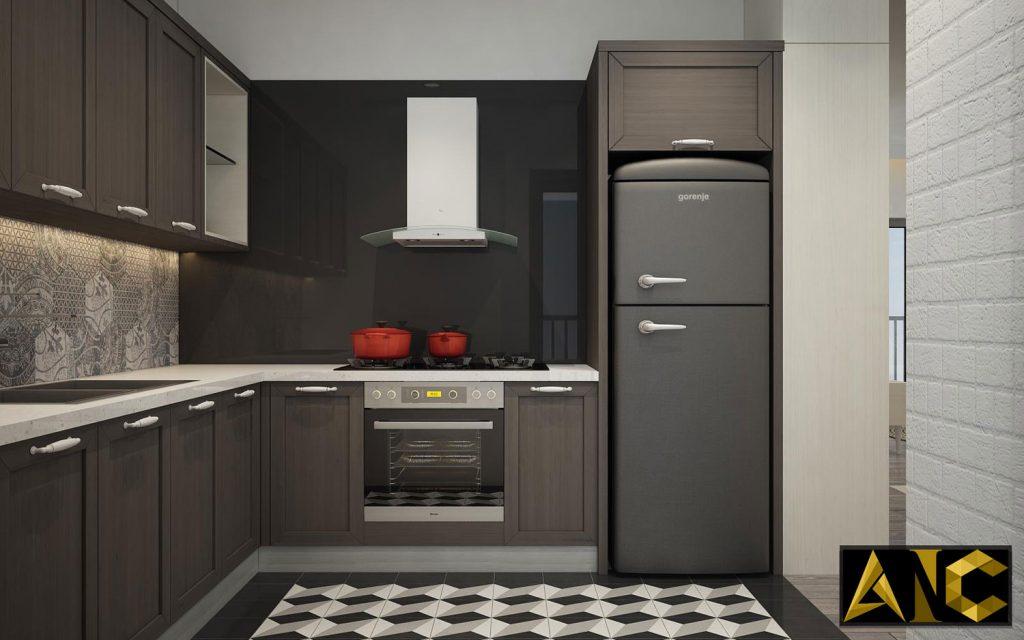 Thiết kế thi công nội thất căn hộ Scenic Valley phòng bếp view 6