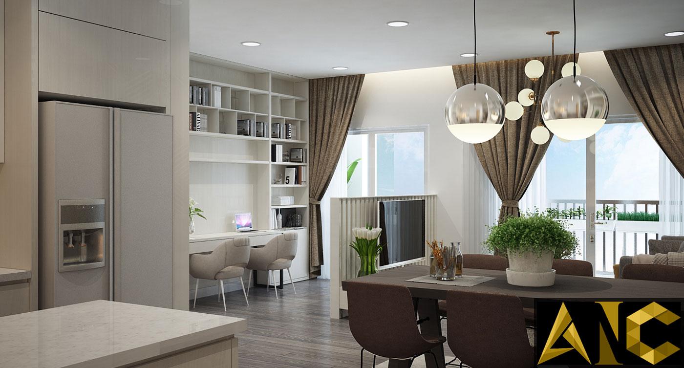 Nội thất căn hộ Kingston Residence - Phòng khách view 2