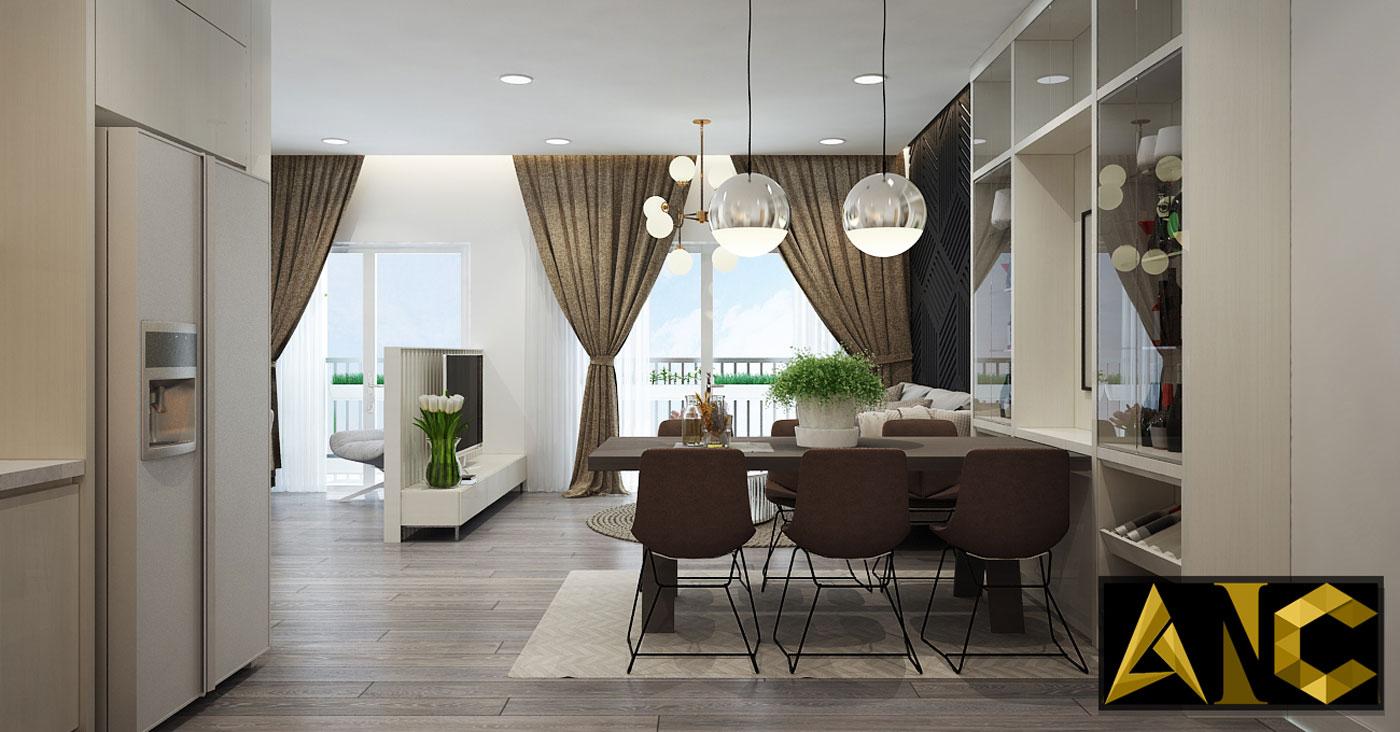 Nội thất căn hộ Kingston Residence - Phòng khách view 3
