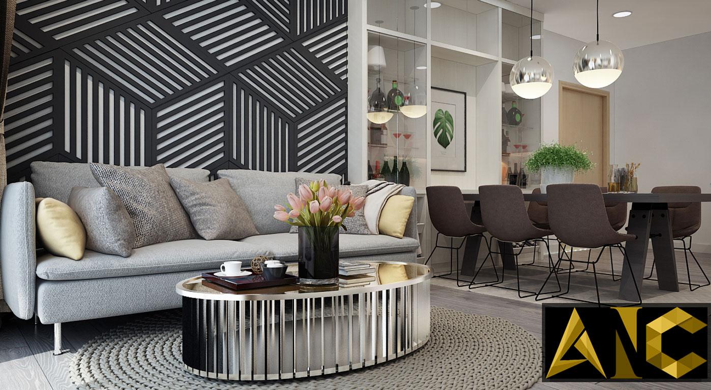 Nội thất căn hộ Kingston Residence - Phòng khách view 5