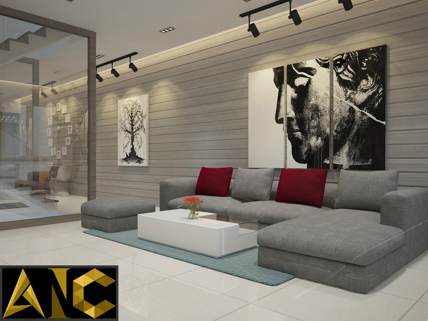 Cải tạo nhà phố Q7 - Phòng khách
