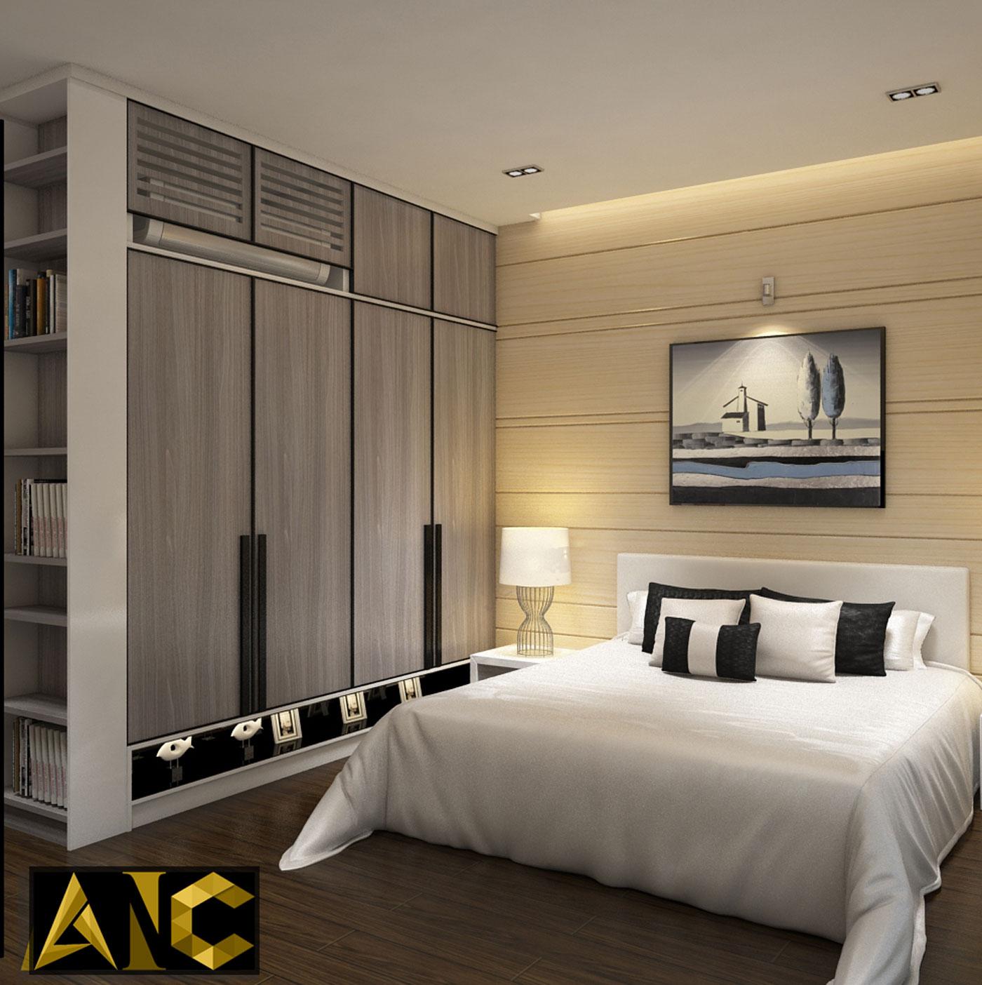 Cải tạo nhà phố Q7 - Phòng ngủ 2 view 1