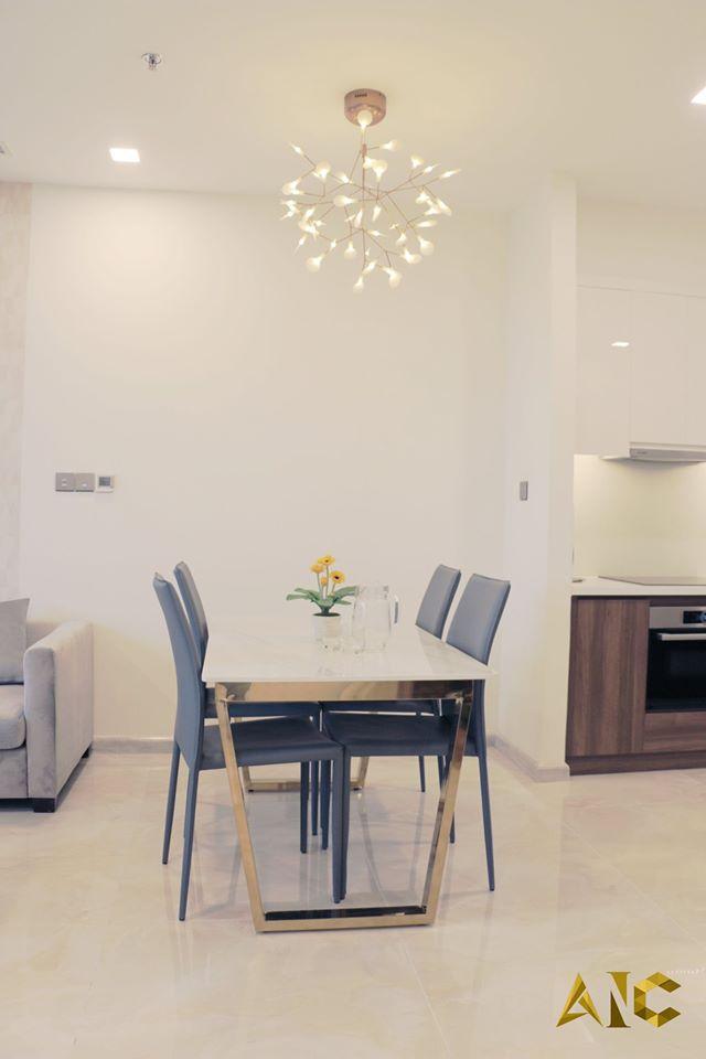thiết kế nội thất căn hộ vinhome bason - bàn ăn
