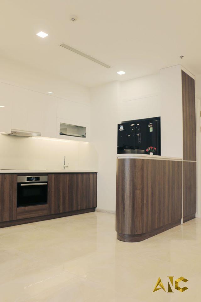 thiết kế nội thất căn hộ vinhome bason - phòng bếp