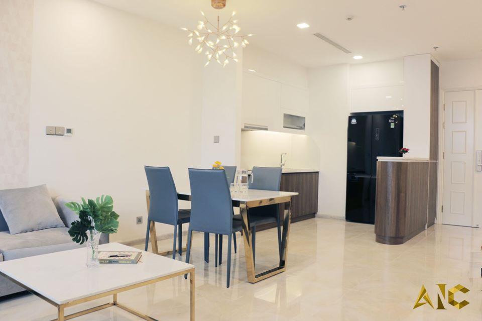 thiết kế nội thất căn hộ vinhome bason - phòng khách view 2