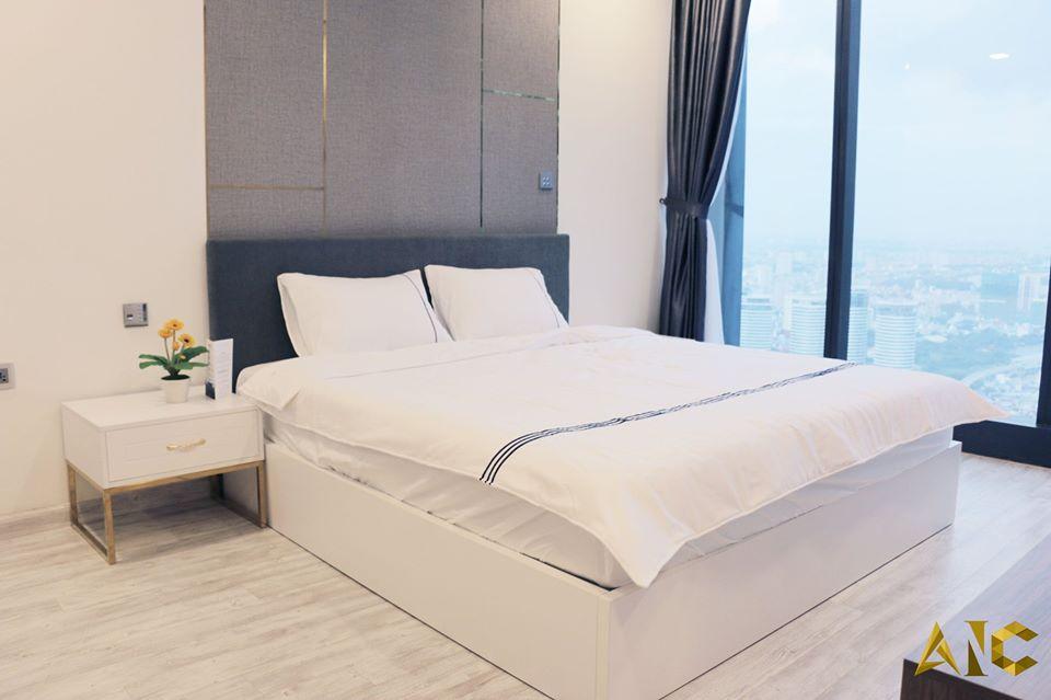 thiết kế nội thất căn hộ vinhome bason - phòng ngủ