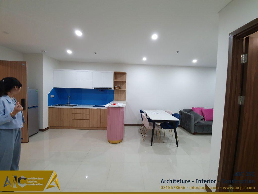 thiết kế và thi công nội thất nhà Vy -nhà bếp