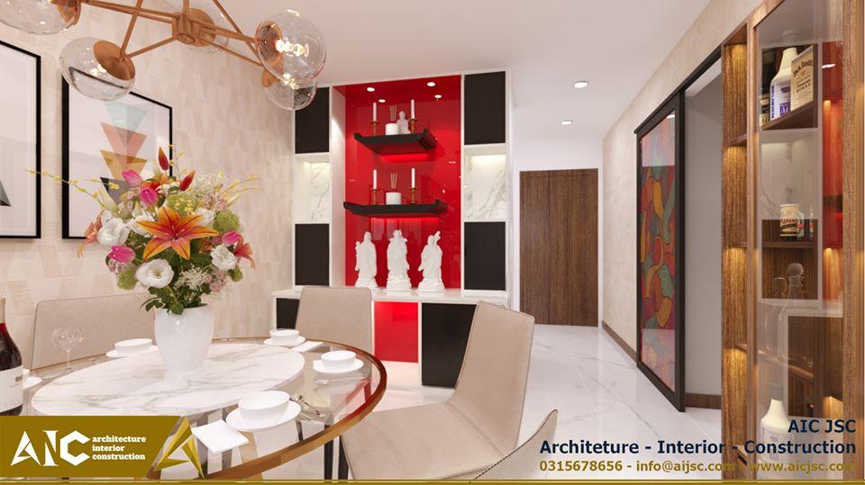 Thiết kế và thi công căn hộ chị Tuyết  -phòng khách