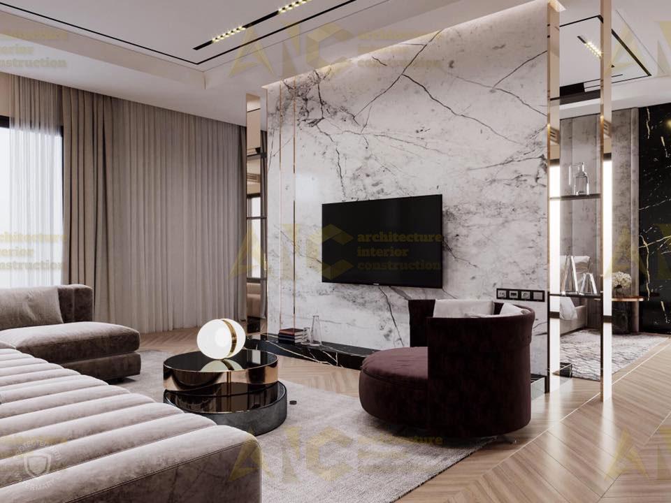Thiết kế nội thất căn n11 Sài Gòn Mia- phòng khách view 2.2