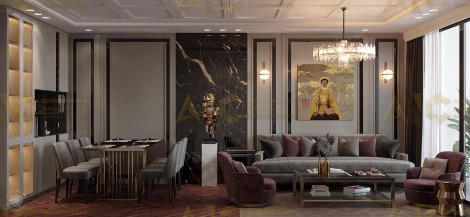 Thiết kế nội thất căn n11 Sài Gòn Mia- phòng khách view 3.2