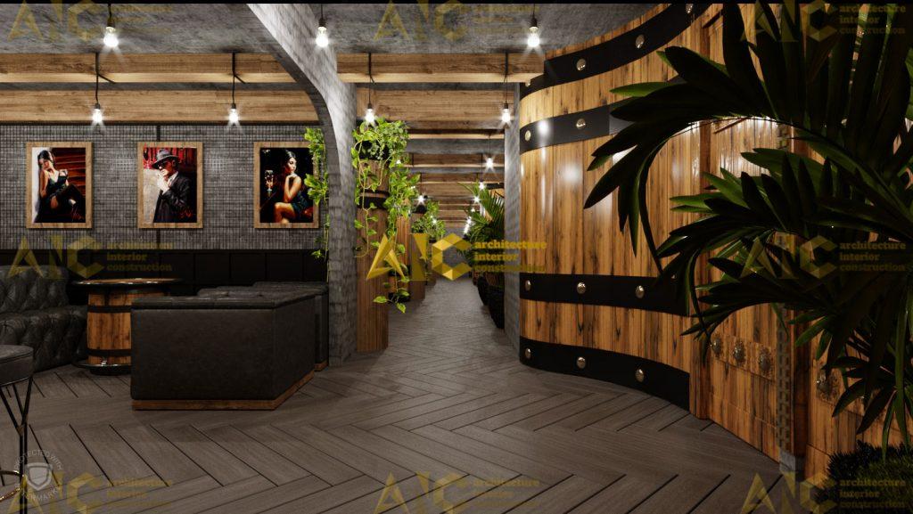 Thiết kế hầm rượu ban mê chị Vân- quầy rượu view 4