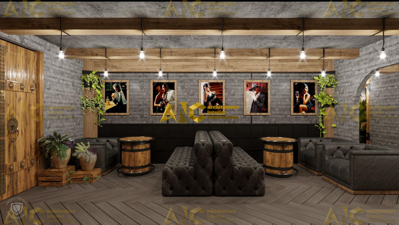 Thiết kế hầm rượu ban mê chị Vân- quầy rượu view 2