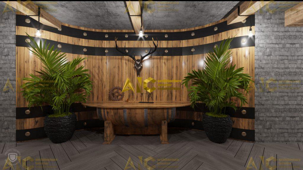 Thiết kế hầm rượu ban mê chị Vân- quầy rượu view 3