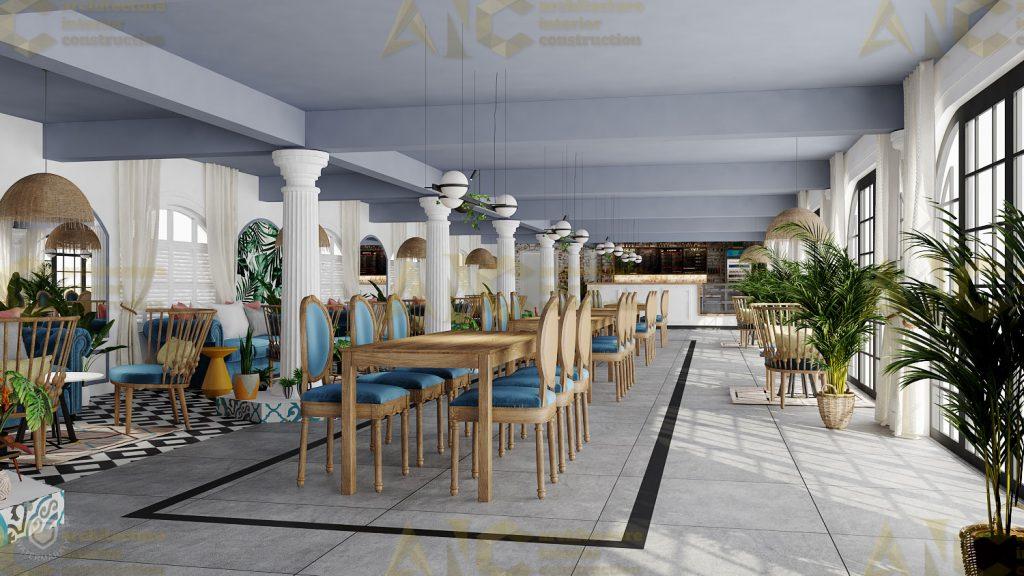 Thiết kế nội thất hầm rượu ban mê chị Vân- coffee view 1