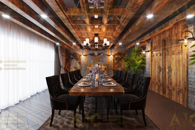 Thiết kế nội thất hầm rượu ban mê chị Vân- phòng Vip view 1.1