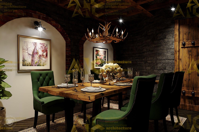 Thiết kế nội thất hầm rượu ban mê chị Vân- phòng Vip view 3.2