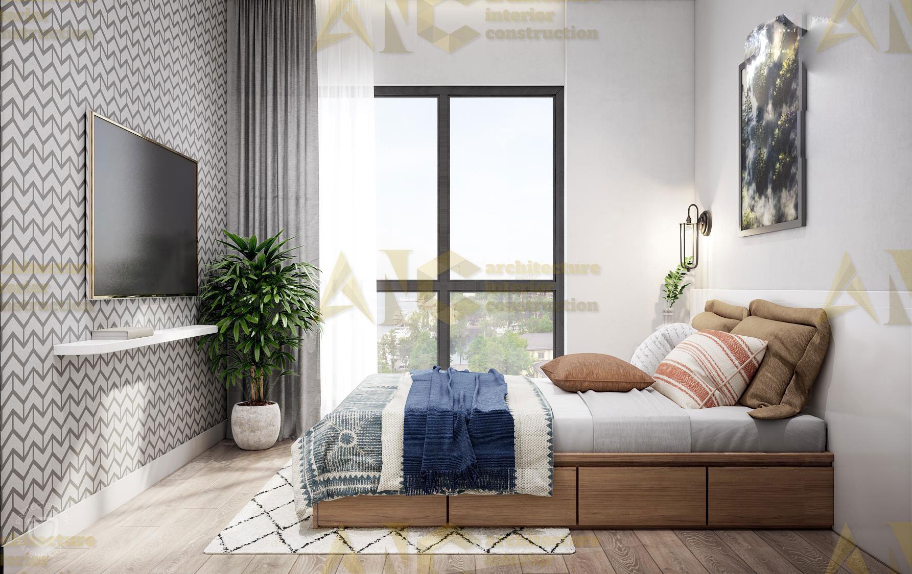 Thiết kế nội thất căn hộ c7 Saigon Mia- phòng ngủ view 2